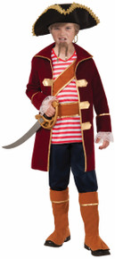 Pirate Captain Kids Costume Deluxe