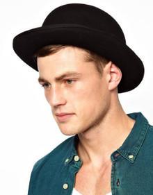 Derby Bowler Hat Deluxe Black Felt