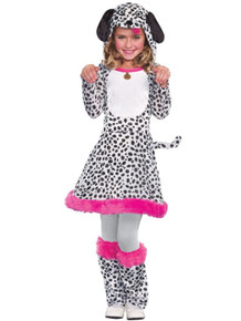 I'm Seeing Spots Girl's Dalmatian Dress w/ Hood
