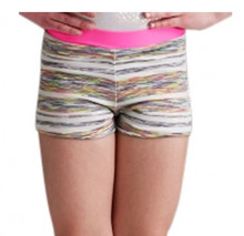 Girl's Holographic Space Dye Gymnastic Shorts