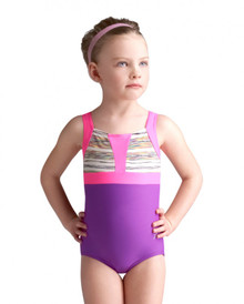 Girl's Holographic Space Dye Gymnastic Leotard