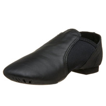 Black E-Series Jazz Slip On Split Sole Shoe