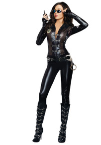 Special Ops Black SWAT Bodysuit w/ Bullet Belt