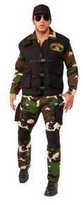 Seal Team 3 Camo Jumpsuit Costume Set