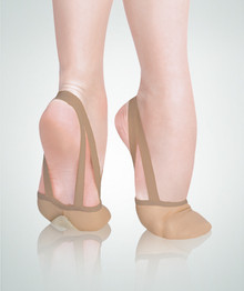 Twyla TotalSTRETCH Leather Pleated Half Sole Slipper