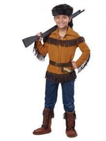 Frontier Boy Kids Western Shirt w/ Hat, Belt & Horn