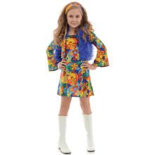 60's Girl's Far Out - Mini Dress, Vest, Headband