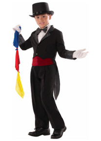 Magician Tailcoat with Hidden Sleeve Pocket and Magic Scarves