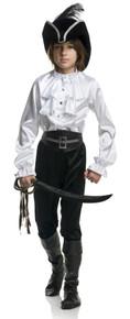 Pirate Captain Boy's Shirt Satin White