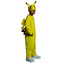 Pokemon Licensed Pikachu Kids Jumpsuit with Hat & attached Tail