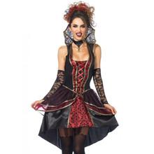 Vampire Queen Ladies Black & Red Dress (85435)