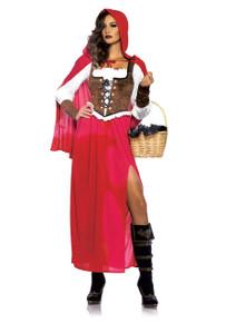 Woodland Red Riding Hood Long Dress & Cape