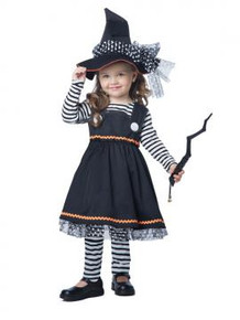Crafty Little Witch Toddler Dress, Hat & Leggings