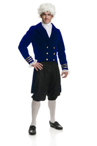 George Washington Blue Velvet Coat Costume Set