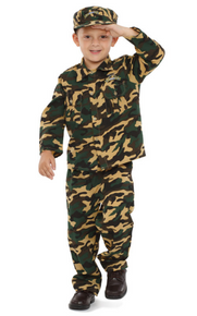 Army Green Camo Costume Kids
