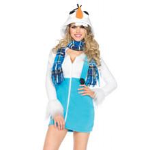 Cozy Snowman Hooded Dress (85524)