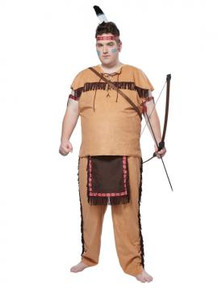 Native American Costume Men's Plus Size 48-52