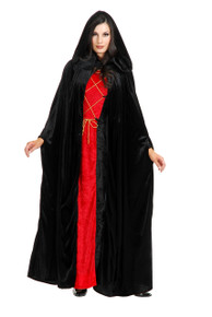 Cloak Adult Sizes Velvet w/ Hood Assorted Colors