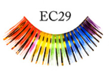 Eyelashes Rainbow with Gold Metallic Tinsel (no adhesive)
