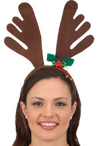 Brown Reindeer Antlers Headband