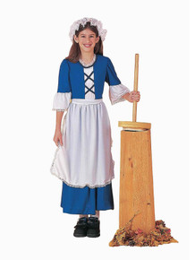 Colonial Girl Blue Costume Child's