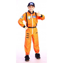 Astronaut Jumpsuit Child Sizing Orange Jumpsuit & Hat