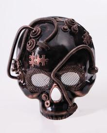 Steampunk Skull Mask Frontal Mardi Gras