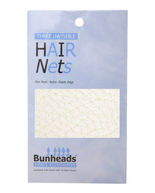3 Pack Professional Dance Hair Nets - Blonde