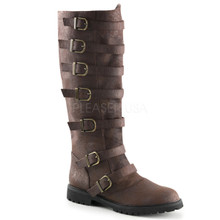 Men's Distressed Gotham Boots with Buckle Straps