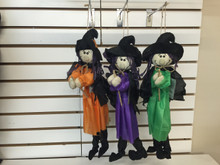 """20"""" Witch with Broom Hanging Decor (92684)"""