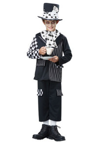 Black & White Mad Hatter Kids Costume