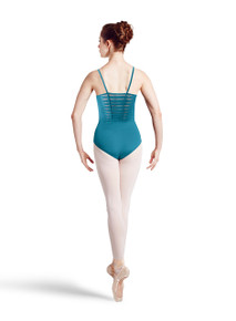 Ladies Spliced Twist Back Camisole Leotard