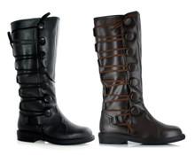 "Ren Men's Renaissance Boots or Pirate Boots 1"" Heel"