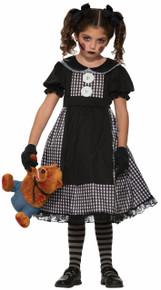 Dark Rag Doll Kids Costume