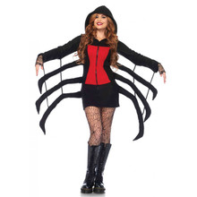 Cozy Black Widow Women's Hooded Spider Robe (85558)