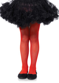 Fishnet Tights Child Sizes - Red