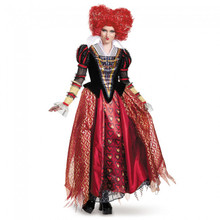 Alice Through The Looking Glass Red Queen Prestige Adult Costume with Petticoat Included