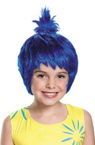 Joy Inside Out Blue Child Wig