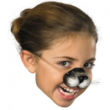 Black Cat Nose w/ Elastic Band Ages 4+
