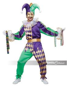 Mardi Gras Jester Mens Complete Costume