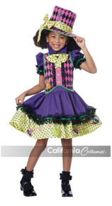 Mad Hatter-ess Girls Dress w/ Clip-On Safety Light Included