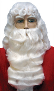 Santa Wig & Beard Deluxe Quality Washable