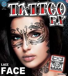 Face Tattoo FX Lace Temporary Tatttoo Sheet