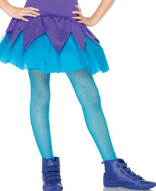 Fishnet Tights Child Sizes - Turquoise