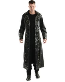 Pirate Gothic Trench Coat Adult Costume Black