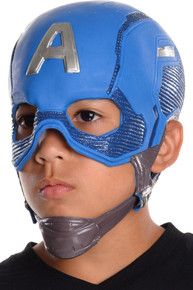 Captain America Civil War Overhead Latex Mask with Chin Strap Kids