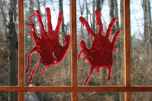 3D Bloody Hands For Windows, Glass, or Mirrors.