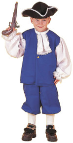 Colonial Boy Costume Kids Blue and White