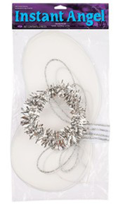 Angel Instant Kit White & Silver Wings & Halo Headband