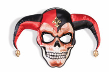Sinister Jester Mask Frontal on a Headband